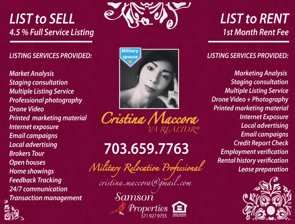 Services Provided as Listing Agent