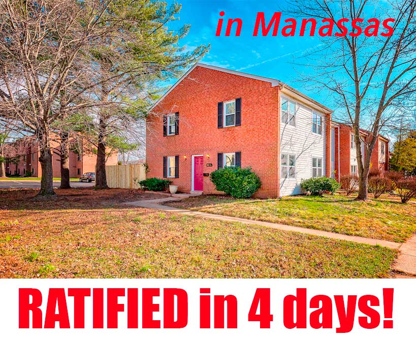 Townhome in Wycliffe Manassas, VA sold for above asking price!